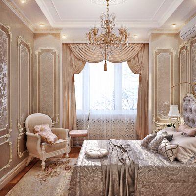 Расскошная спальня в классическом стиле