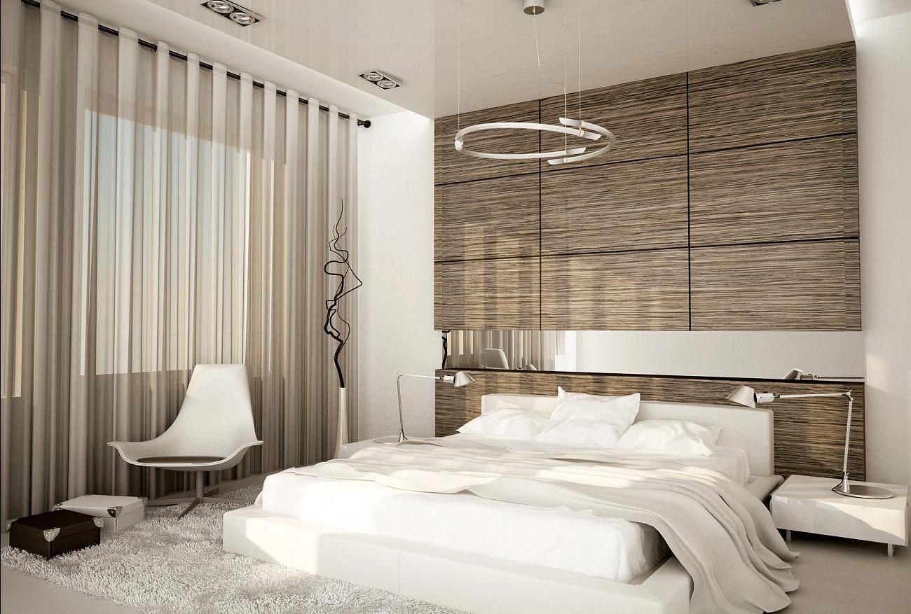 Размер спальни в современном стиле