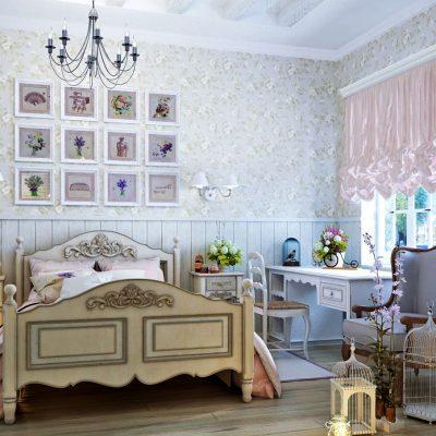 Детская комната шебби-шик для девочки