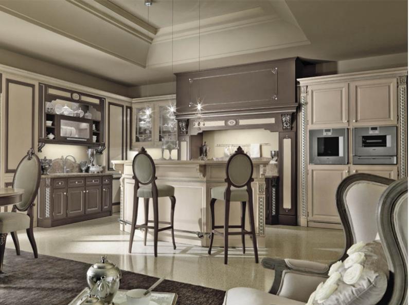 Барные стулья на кухне в стиле ампир