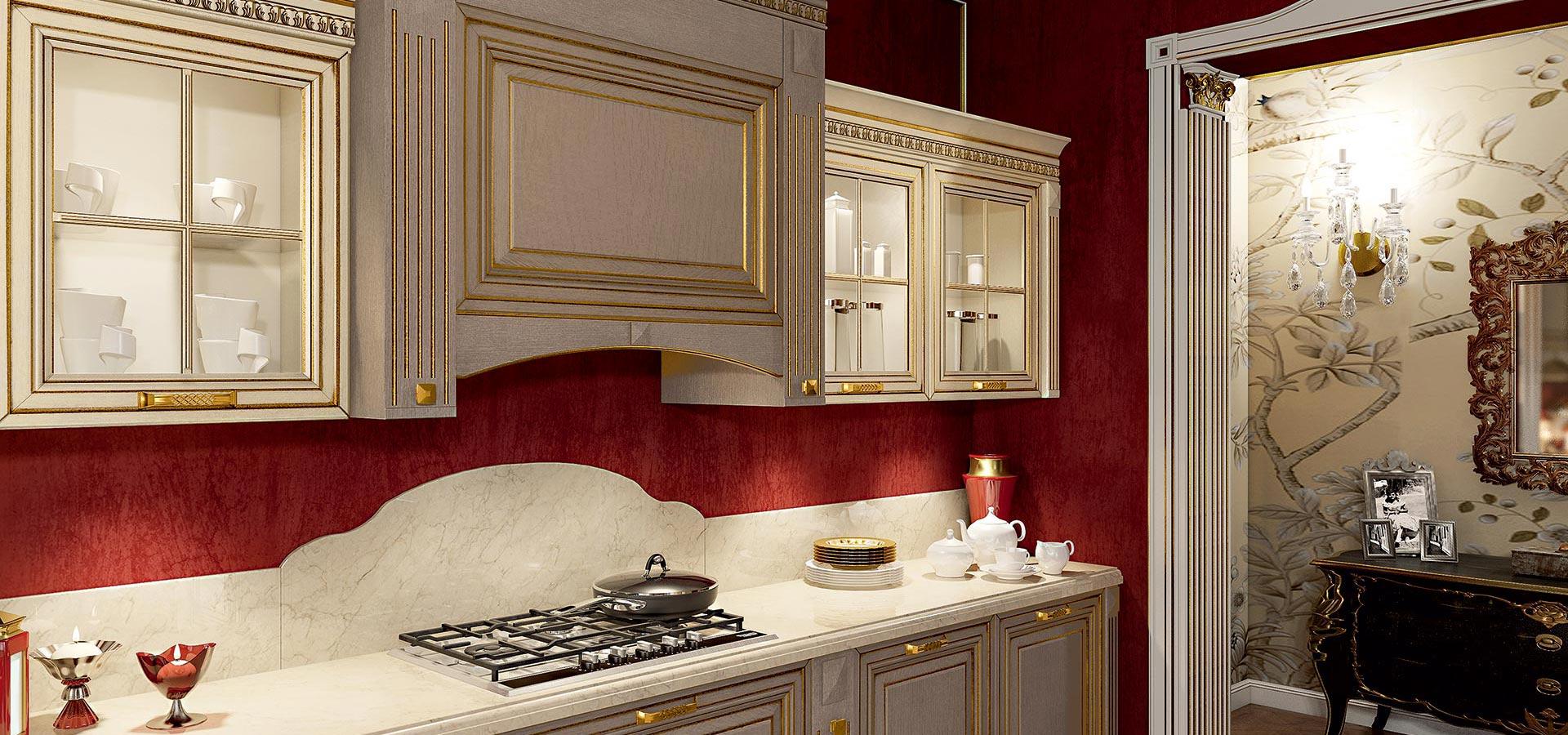Классическое и в то же время роскошное соцетание цветов: белый, красный и золотой