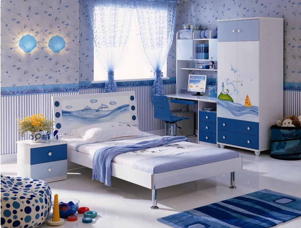 Цвет в детской комнате в морском стиле