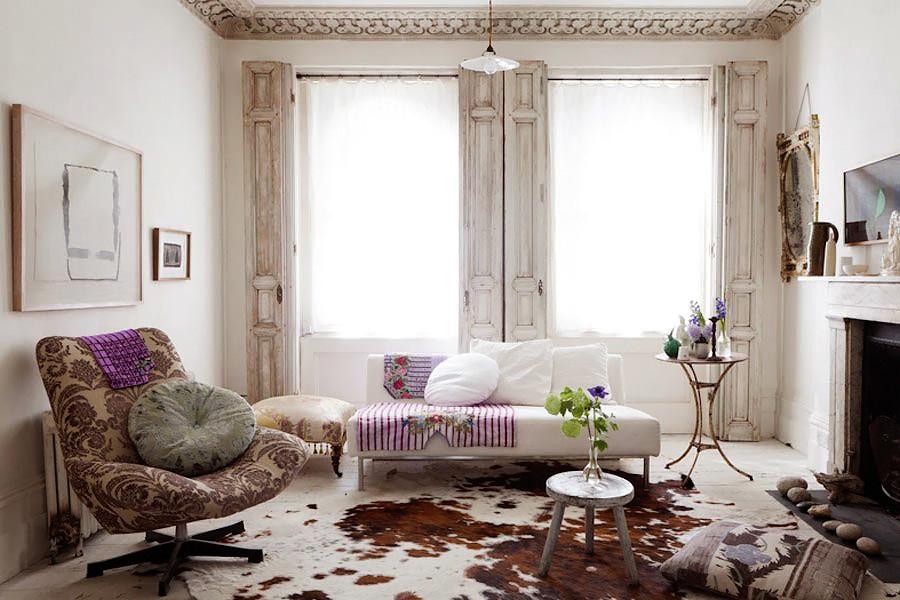 Цветовая гамма гостиной в стиле шебби шик