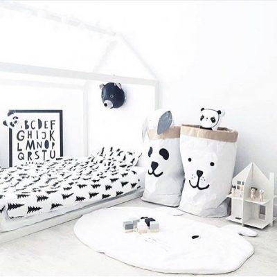 Детская кровать домик в стиле минимализм