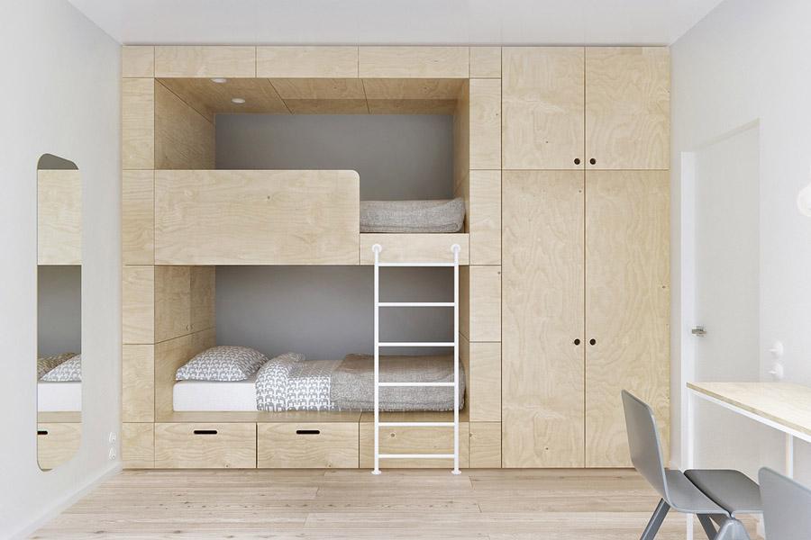 Детская кровать минимализм фото