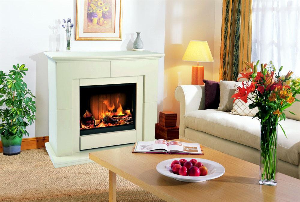 Дизайн гостиной с камином комфортно и уютно