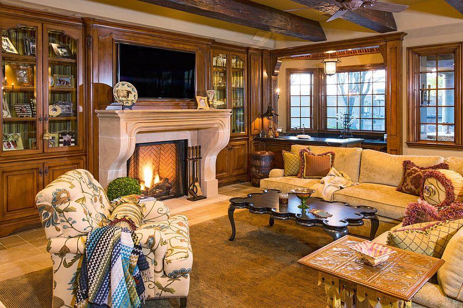 Дизайн гостиной в викторианском стиле фотография