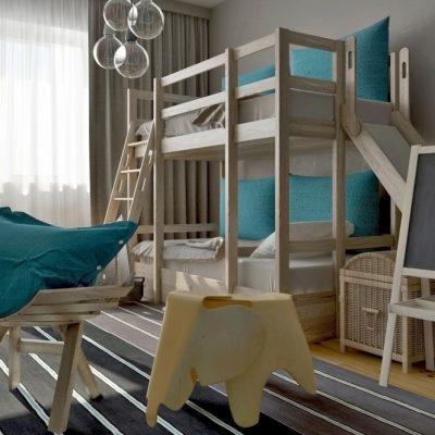 Дизайн интерьера детской комнаты в стиле лофт