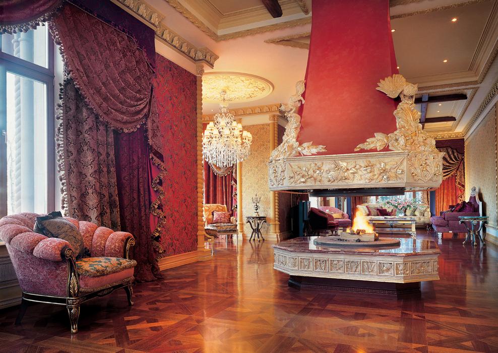Дизайн интерьера и освещение в стиле ампир