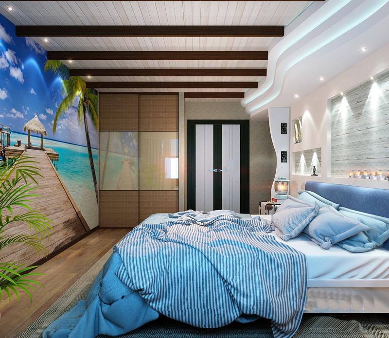 Дизайн интерьера мужской спальни фото