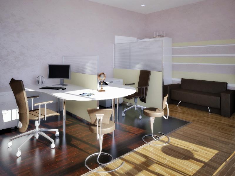 Функциональный дизайн офиса в стиле хай-тек