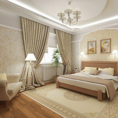 Фото дизайна потолка в спальне