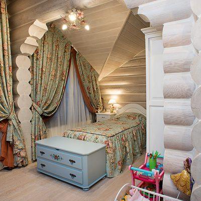 Фото оформления комнаты в русском стиле