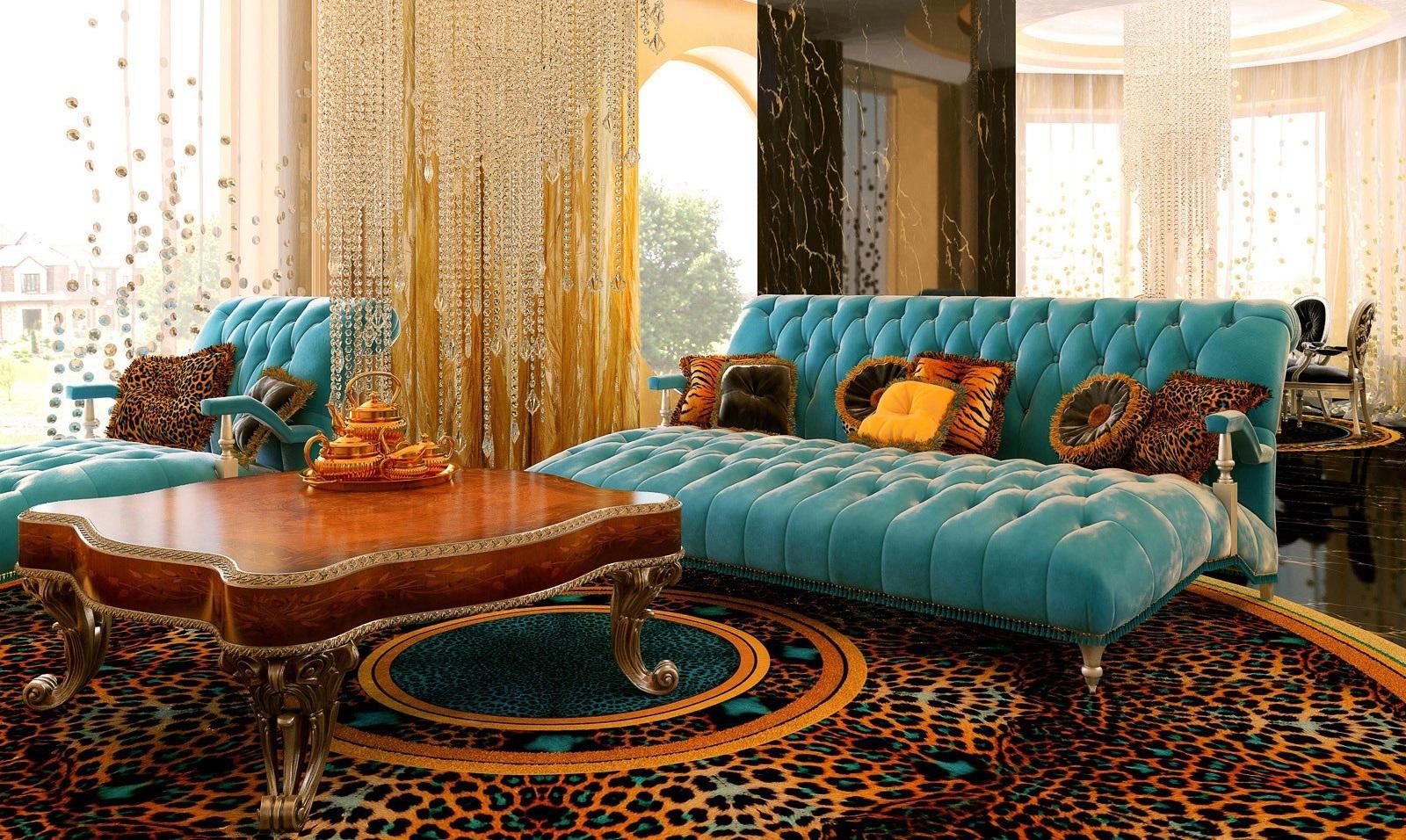 Фото роскошной гостиной в стиле рококо