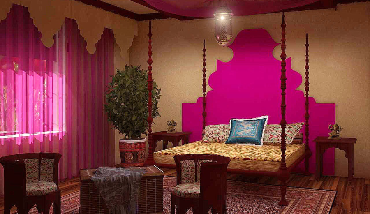 Фото спальни в индийском стиле