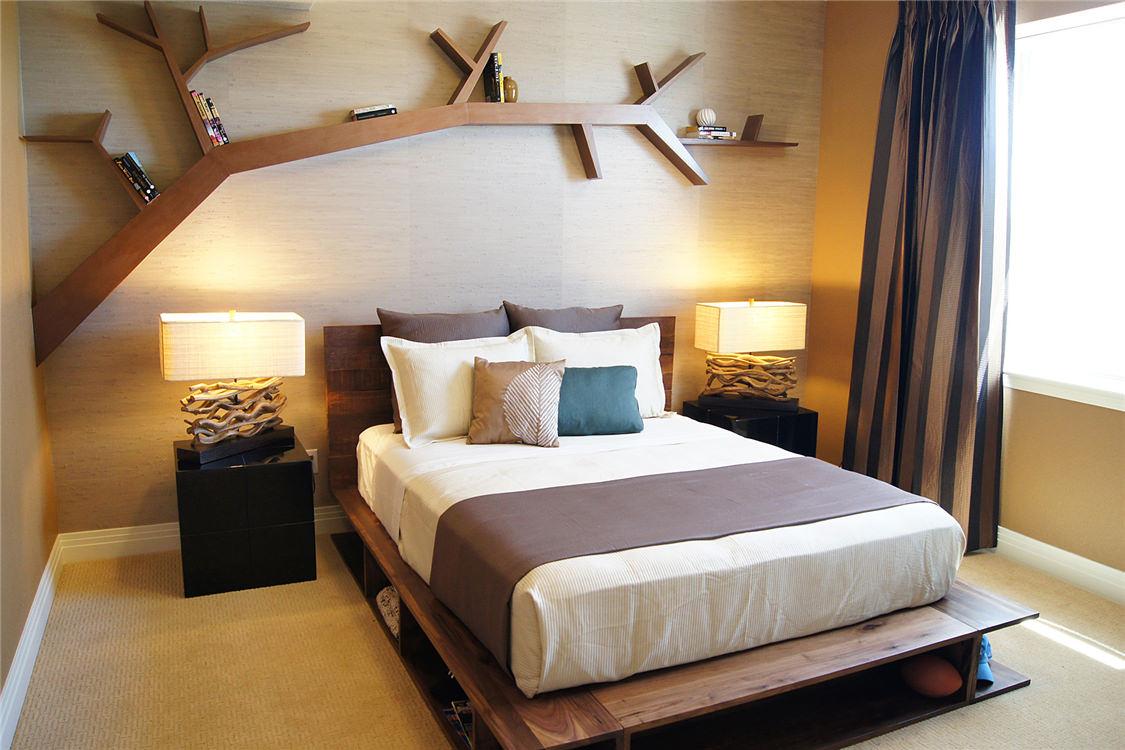 Фото спальни в эко стиле