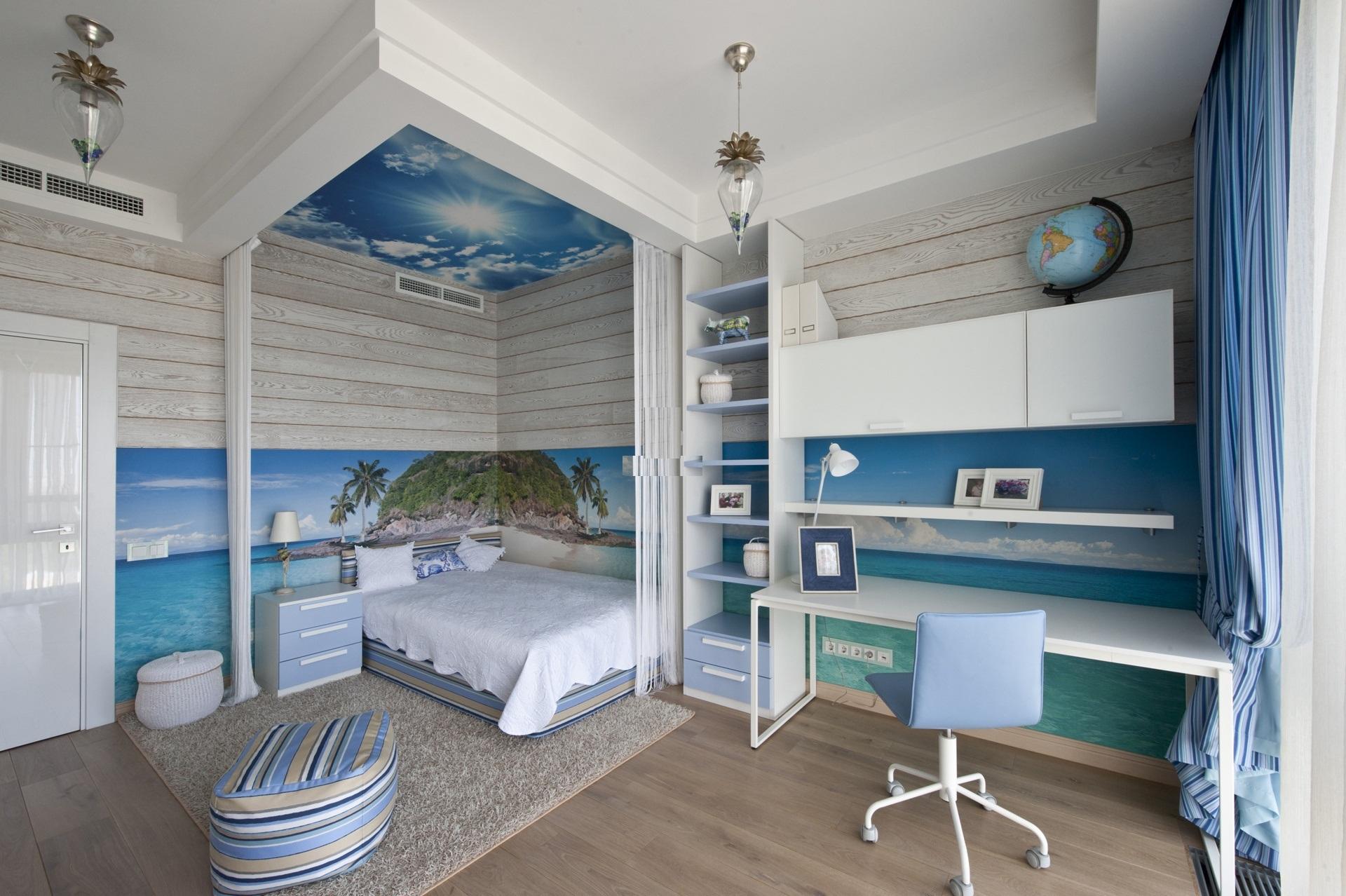 Фото спальни в морском стиле