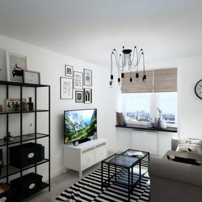 Фотография комнаты в скандинавском стиле