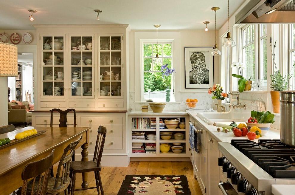 Гармонично оформленная кухня