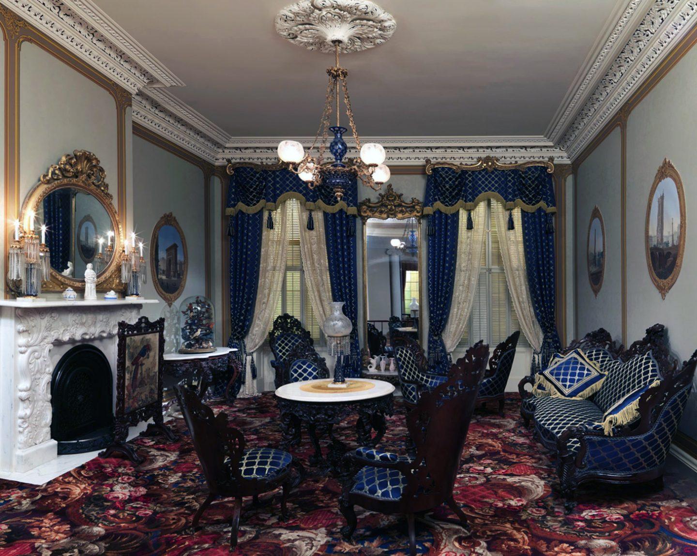 Шикарная императорская гостиная в стиле ампир