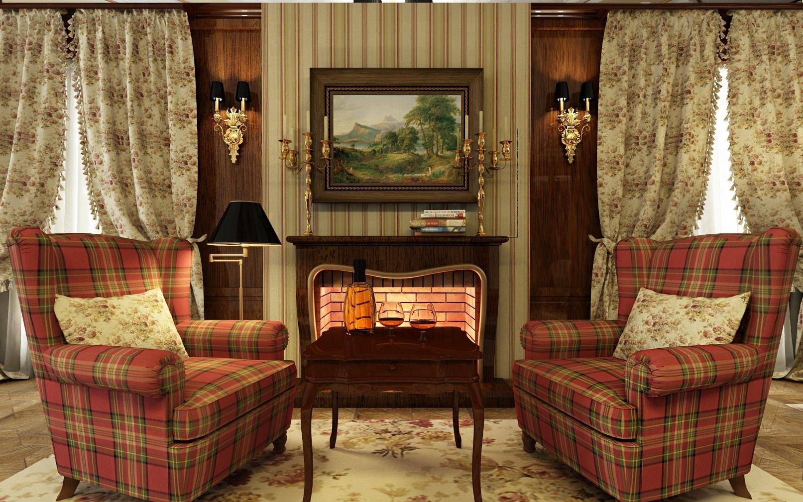 Гостиная в викторианском стиле фото