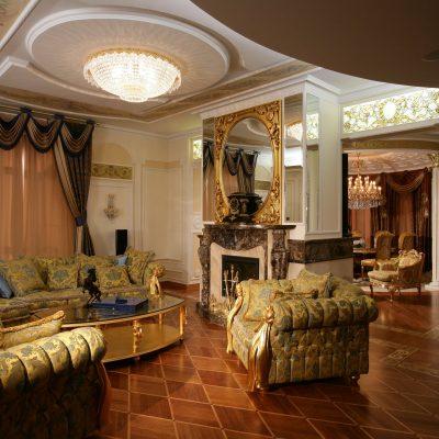 Интерьер гостиной стиль ампир