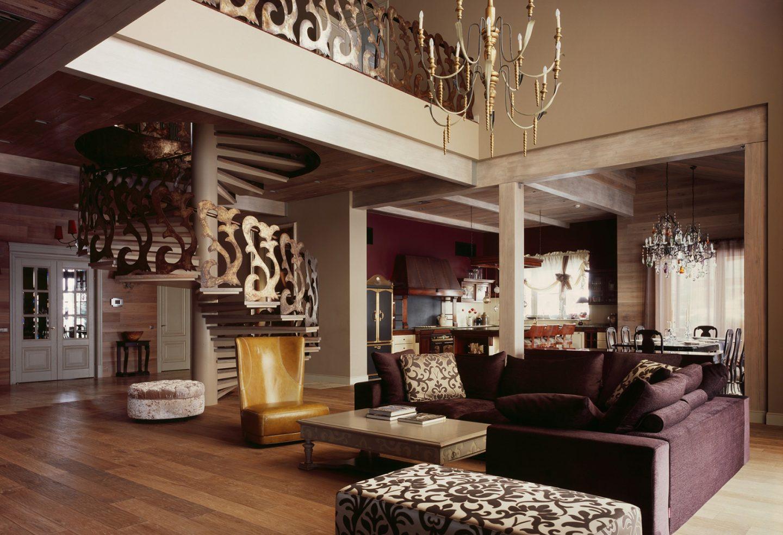 Сочетать несочетаемое: гостиная в стиле фьюжн
