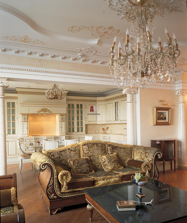 Интерьер квартиры с элементами рококо
