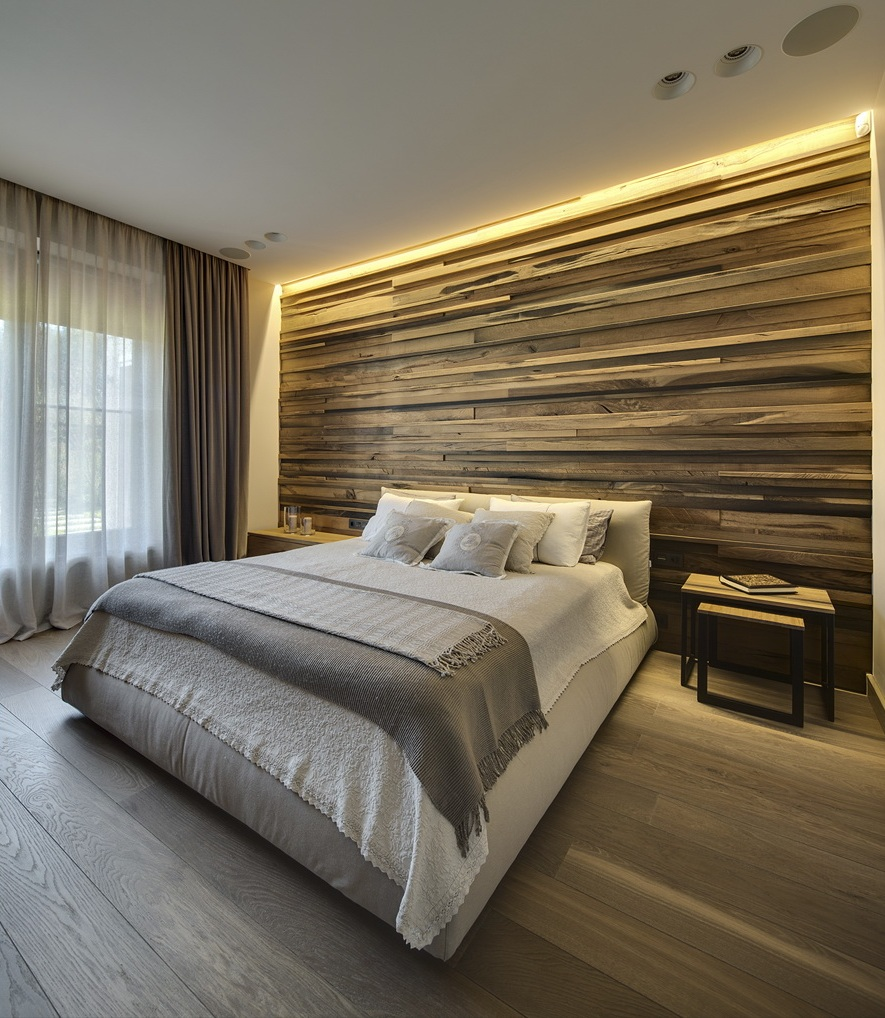 Интерьер небольшой спальни в эко стиле