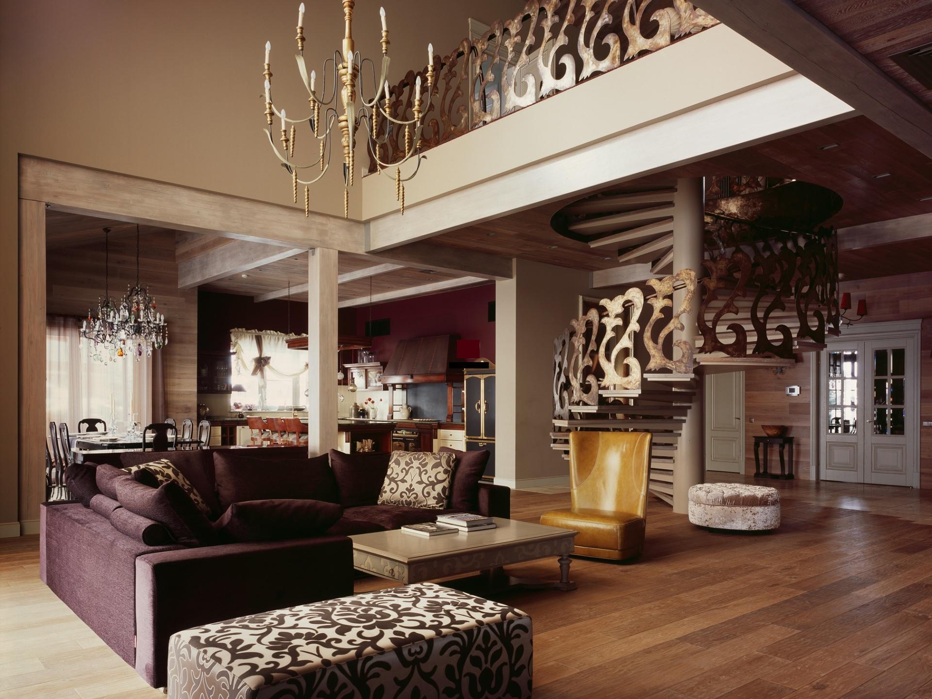 Интерьер в стиле фьюжн гостиная комната