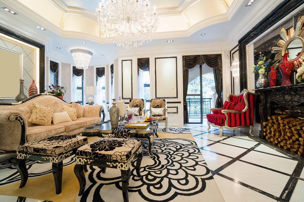Интерьер в стиле рококо в частном доме