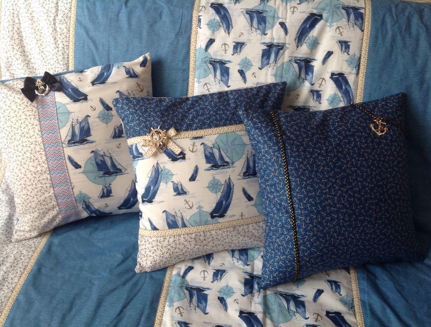 Интерьерные подушечки в морском стиле