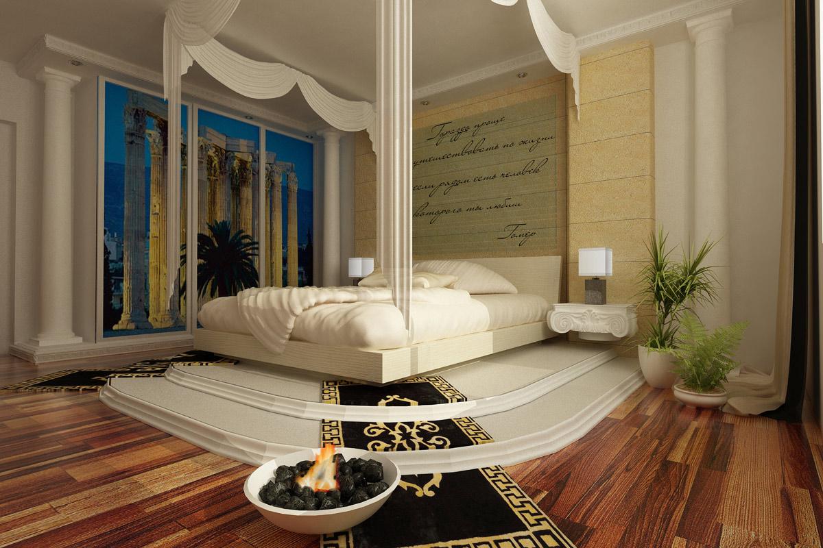 Интересная идея оформления спальни