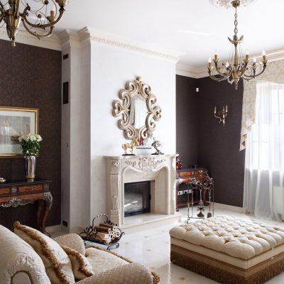 Интересный дизайн гостиной в викторианском стиле