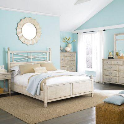 Яркая спальня в морском стиле