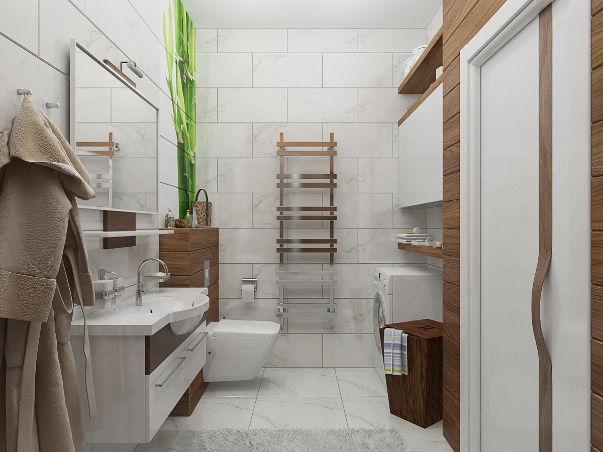Эко стиль в ванной комнате