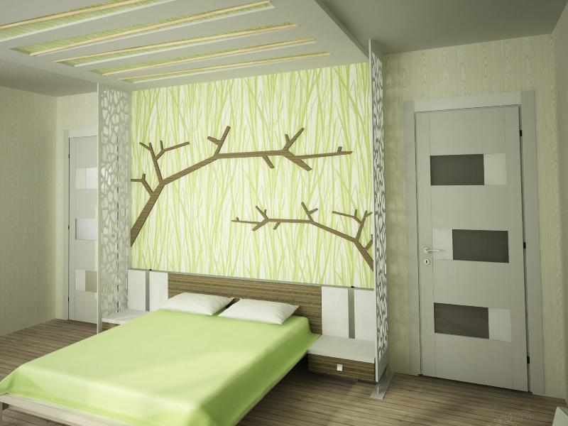 Эко-спальня на фото