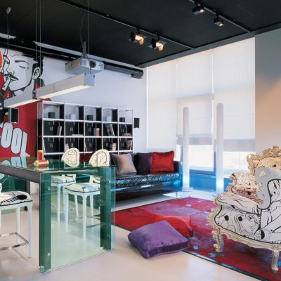 Элементы стиля фьюжн в интерьере гостиной