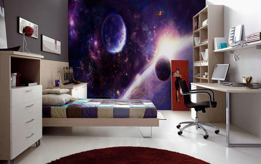 Космическая атмосфера в комнате малыша