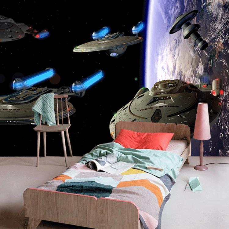 Космическое пространство в дизайне комнате