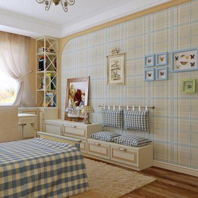 Красивая комната в стиле кантри