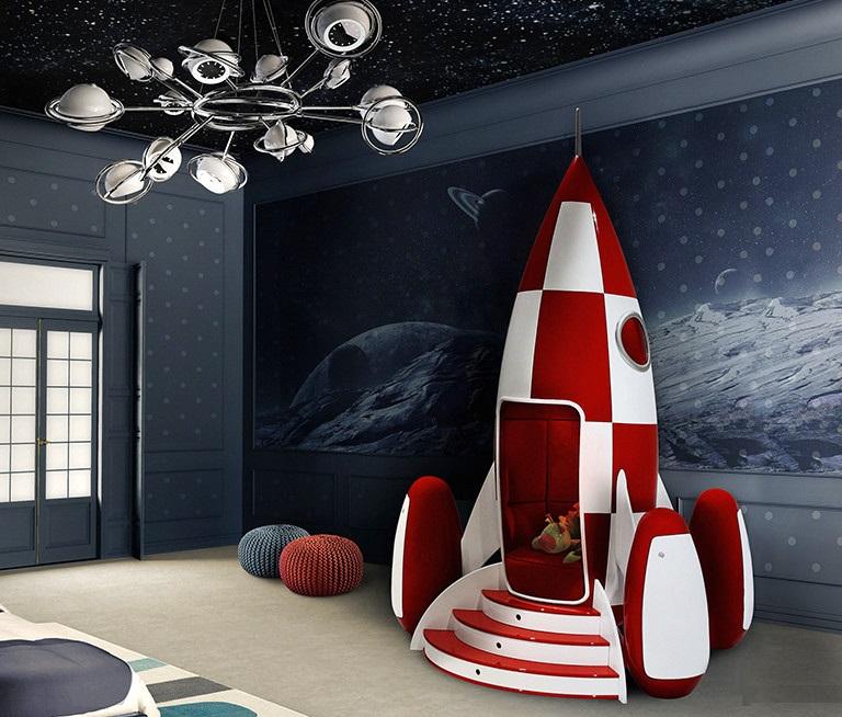 Кровать в формы ракеты