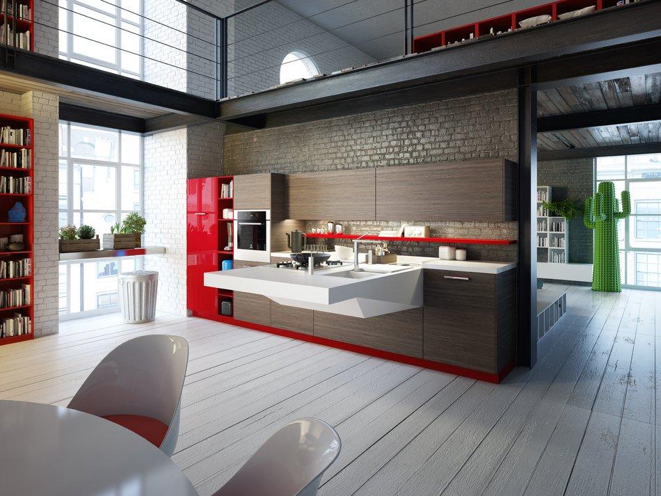 Кухни разнообразных стилей со встроенной техникой