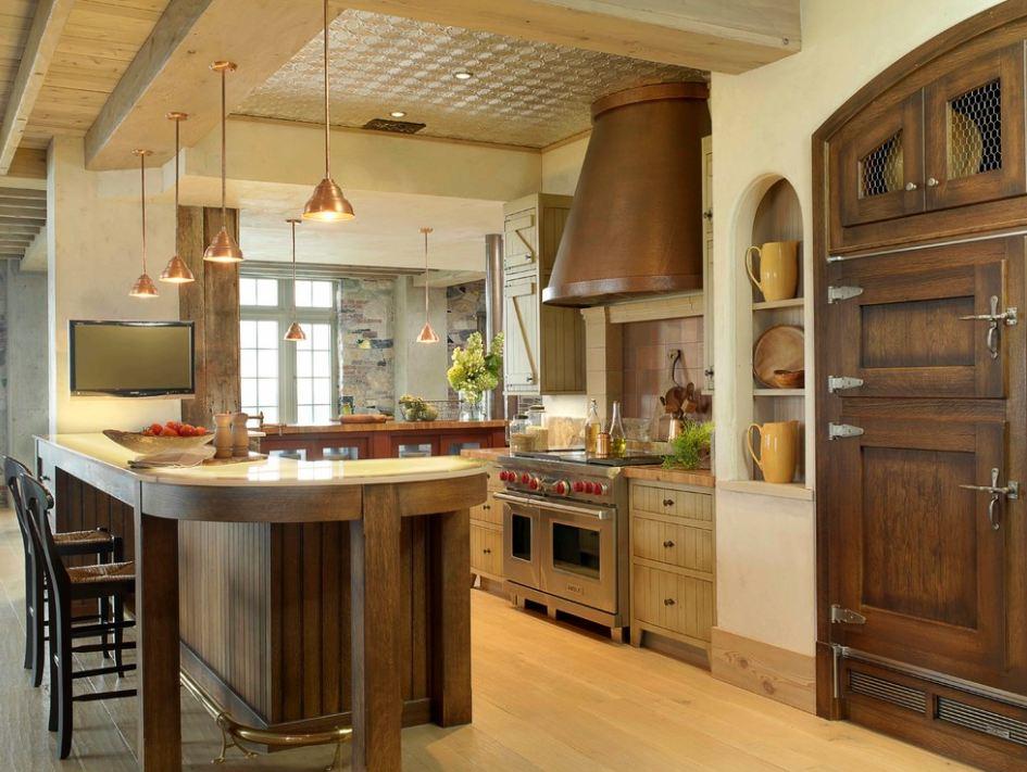 Оформление кухни в романском стиле