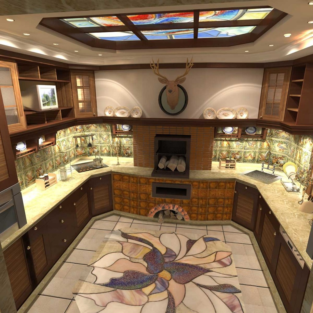 Кухня цвет по фен шуй