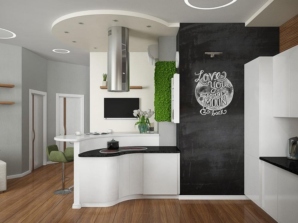 Кухня в эко стиле для молодой девушки