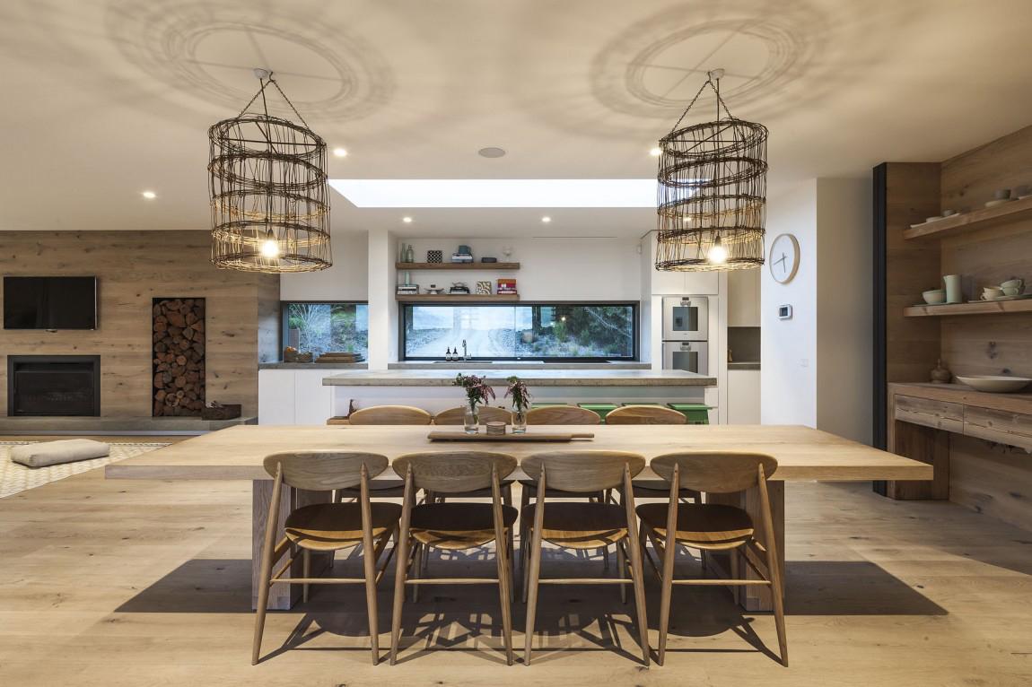 Мебель на кухне в экостиле