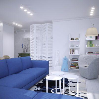 Морской стиль в дизайне интерьера квартиры фото