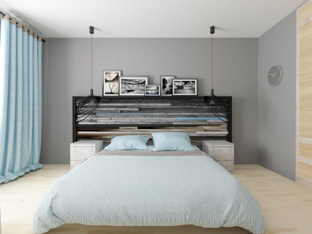 Оформление спальни в эко стиле