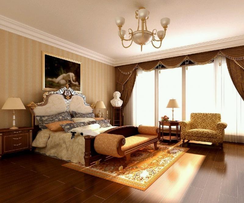 Оригинальная спальня в греческом стиле